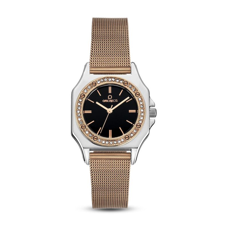 Orologio OPS! Object PARIS LUX CRYSTAL laminato oro rosa - OPSPW-515